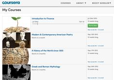 Coursera offers hundreds of the world's best college courses free