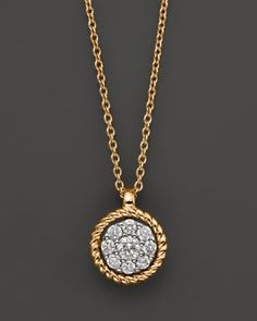 Diamond Cluster Pendant in 14K Yellow Gold, .20 ct.tw. | Bloomingdale's