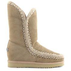 Mou Eskimo Wedge Tall Boots Camel - MOU