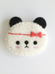 Panda with bow brooch, Panda Brooch, Cute Panda on Etsy, $11.07 AUD