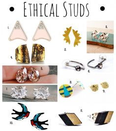 Ethical Studs - Made-To-Travel.com -- I spy our Seafaring studs #MataTraders