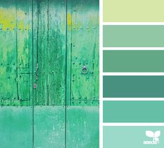A Door Hues - Spring color inspiration from Design Seeds (photo: Plans Architecture, Green Colour Palette, Design Seeds, Color Stories, Color Swatches, Color Of Life, Colour Schemes, Color Combinations, House Colors