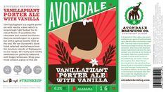 Avondale Vanillaphant Porter w/ Vanilla Among First Bottles