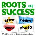 "This is a collection of colorfully illustrated word wall cards for the most common roots, stems, and prefixes found in academic texts.  Previously called ""Roots and Stems,"" this is the same highly rated word wall card set with a new name, several new roots, and a few design enhancements."