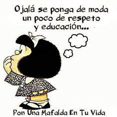 Resultado de imagen para frases de amor de mafalda