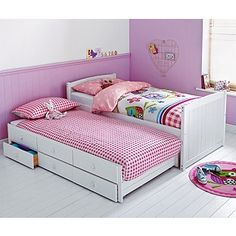 Buy Frankie Cabin and Trundle Bed Frame - White at Argos.co.uk, visit Argos.co.uk to shop online for Children's beds, Children's beds