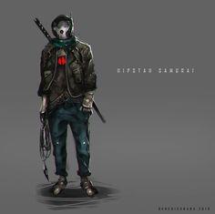 Hipstah Samurai, Benedick Bana on ArtStation at https://www.artstation.com/artwork/hipstah-samurai