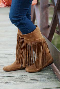 Deb Shops Fringe Boots