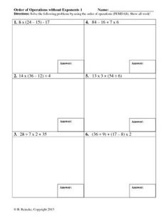 math worksheet : 1000 images about 5th grade math on pinterest  order of  : Order Of Operations With Decimals Worksheet