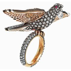 Munnu Kasliwal of The Gem Palace Jaipur, designs gorgeous jewelry and this 18K diamond bird ring with ruby eyes is no exception. $21,750, at Barneys New York and #14 on the count down.