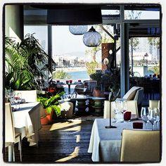 Comedor del restaurante Bravo24, maravillosas vistas
