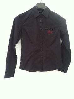 Women's Black Harley Davidson Long Sleeve Shirt Size M Embroidered #HarleyDavidson #Blouse