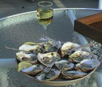 Moonstone oysters - Rhode Island's Finest.