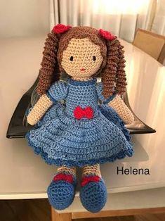 Resultado de imagem para bonecas amigurumi Crochet Dollies, Crochet Toys, Crochet Baby, Diy Doll, Amigurumi Doll, Doll Patterns, Holidays And Events, Barbie Dolls, Free Pattern