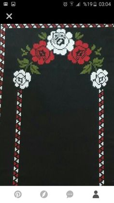 Cross Stitch Flowers, Christmas Cross, Cross Stitch Embroidery, Diy And Crafts, Cross Stitch Rose, Throw Pillows, Counted Cross Stitches, Table Runners, Roses