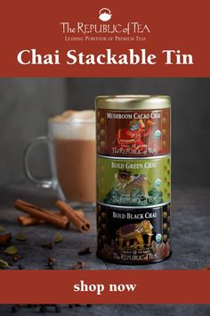 Not only is this stackable chai tea tin the perfect tea gift set, it's also packed with Certified Elephant Friendly, vegan, and organic teas! The perfect vegan chai gift set for the animal lover in your life, or for your own go-to daily chai tea. This stackable tea set includes decaf, low caffeine, and higher caffeine teas, the perfect sip for any time of day. Click to shop! #VeganChai #ChaiTeaSet