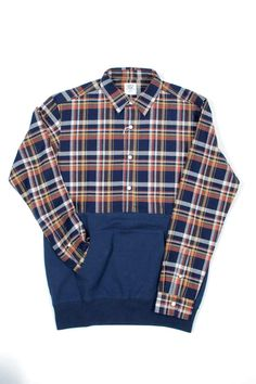 Blue Button Shop - Shirt & Sweat Pullover (Navy) -