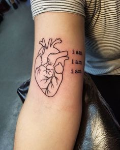 Tattoo Trends - awesome Tattoo Trends - 40 Trending Anatomical Heart Tattoo Designs - For Men &a - Letter Tattoos Design Tattoo, Heart Tattoo Designs, Tattoo Designs And Meanings, Tattoo Designs For Women, Tattoos For Women, Mini Tattoos, Body Art Tattoos, Sleeve Tattoos, Neck Tattoos