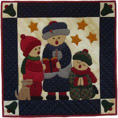"Christmas Carolers Wall Quilt Kit - 22"" x 22"""