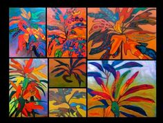 Anthony Mendivil Palms, Cactus, Tropical, Inspirational, Nature, Painting, Art, Art Background, Palmas
