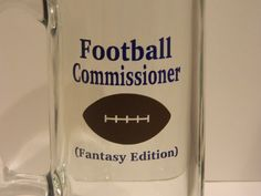 Football Comissioner fantasy edition beer by TheHomeMadeHoliday fantasy football, fantasy baseball