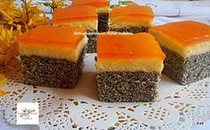 Fincsi receptek: Mákos,narancszselés fantázia kocka Hungarian Desserts, Christmas Poinsettia, Healthy Snacks, Cheesecake, Deserts, Food And Drink, Pudding, Sweets, Mac