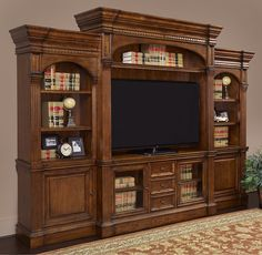 A wall media entertainment center like this deserves a special place in the home! #mancave #movie #home_theater   Houston TX   Gallery Furniture  