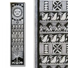 Buy Black And White Madhubani Painting Featuring Aspects Of Daily Madhubani Life online. Chalkboard Art Quotes, Madhubani Painting, Kalamkari Painting, Madhubani Art, Indian Folk Art, Art Corner, Art N Craft, Online Painting, Tribal Art