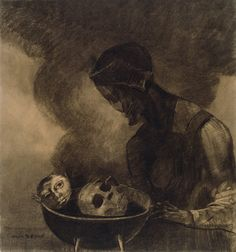 Odilon Redon - Cauldron of the Sorceress, 1879, Various charcoals... | The Art Institute of Chicago