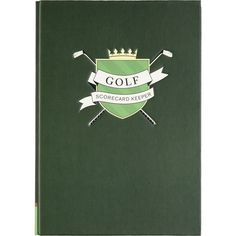 Golf Scorecard Keeper - designed to let any avid golfer savor every moment of their game. Store up to 52 scorecards and log key details of the game (players, tee time, course, weather, score). $16.95