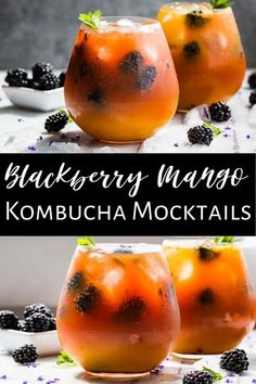This Mango Blackberry Kombucha Mocktail is the perfect recipe for summer patio sipping! You'll find this recipe along with more mocktail ideas and tips for how to make sure this is Whole30. It's the perfect non alcoholic way to enjoy a refreshing drink made with all real food ingredients. It's gluten free, dairy free, clean eating, and paleo/Whole30 as well.  #kombucha #mocktails #kombuchamocktail #whole30 #healthy #paleo Infused Water Recipes, Drinks Alcohol Recipes, Real Food Recipes, Paleo Recipes, Kitchen Recipes, Dairy Free, Gluten Free, Kombucha, Perfect Food