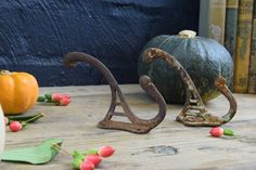 Pair of Fabulous Rustic Old Hooks   http://www.theblindmole.com/shop/pair-of-fabulous-rustic-old-hooks
