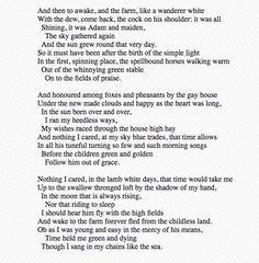 Fern Hill II - Dylan Thomas