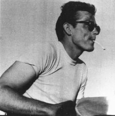 "James Dean on the set of ""Rebel Without a Cause"". (1955)"
