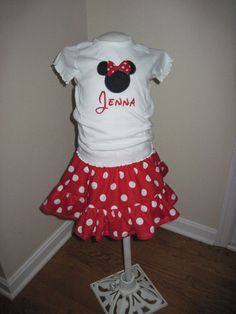Custom Personalized Disney OutfitEmbroidered by CustomizablyYours, $35.00