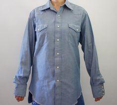 Vintage 70s80s Mens Wrangler Western Shirt by SycamoreVintage
