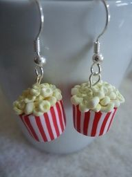 Popcorn Earrings #tip #tipping #tiporskip #cute #jewelry #earrings #popcorn #etsy #movies @Etsy