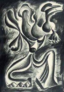 Γαϊτης Γιάννης – Giannis Gaitis [1923-1984]   paletaart - Χρώμα & Φώς Abstract, Artwork, Summary, Work Of Art, Auguste Rodin Artwork, Artworks, Illustrators