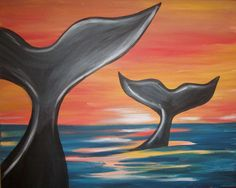 """Muse Paintbar - Hingham. MA - $29/painter - Sunday, 07/19/15 - 1-3:15PM -""""Paint the ocean's largest creature at Muse!"""""""