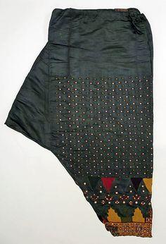 Shalwar  Date:1800–1938 Culture:Indian Medium:silk