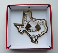 Proud to be a Texan Christmas ORNAMENT Texas American Flag More TX Gifts Favors