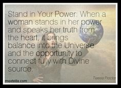 Stand in your power.
