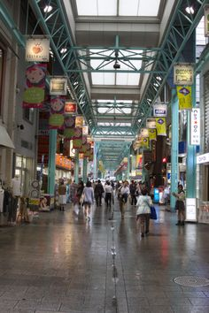 One of the covered shopping streets in Kichijoji.