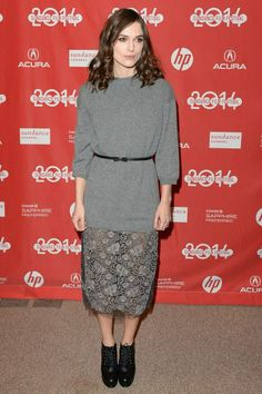 Keira Knightley | sweater + lace skirt