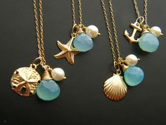 Nautical Necklaces Keepsake - perfect for bridesmaids' gifts
