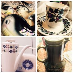 """""""For a great mix of vintage, pottery & small home furnishings, is THE STALL for you. Easter Specials, Train Station, Goodies, Vintage Pottery, Marketing, Tableware, Manchester, October, Events"""