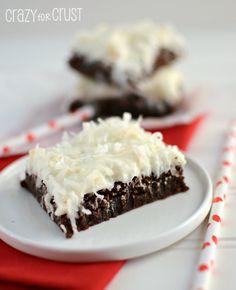 gooey brownies w/coconut frosting...