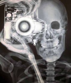 This would be sweet! Skeleton with camera tattoo idea