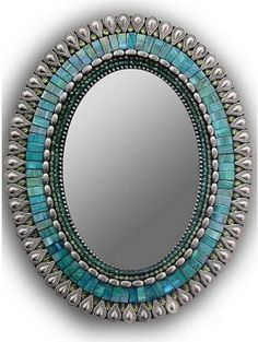 Zetamari Mosaic Mirror, Gifted Home Decor Mirror Artwork, Mosaic Artwork, Mirror Painting, Mirror Mosaic, Mosaic Glass, Mosaic Birdbath, Mosaic Wall, Stained Glass, Mirror Crafts