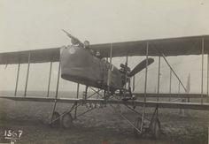 """1916 - Vue de """"Farman"""" 130 chevaux - Section de photographie aérienne du groupe des escadrilles du camp retranché de Paris"""